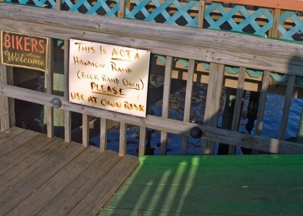 beer ramp in Cedar Key