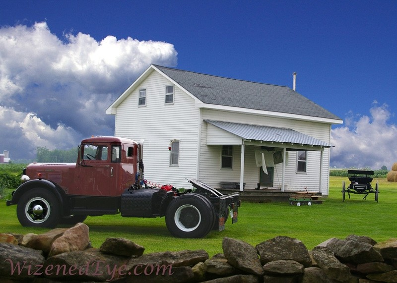 brockway truck amish home buggy