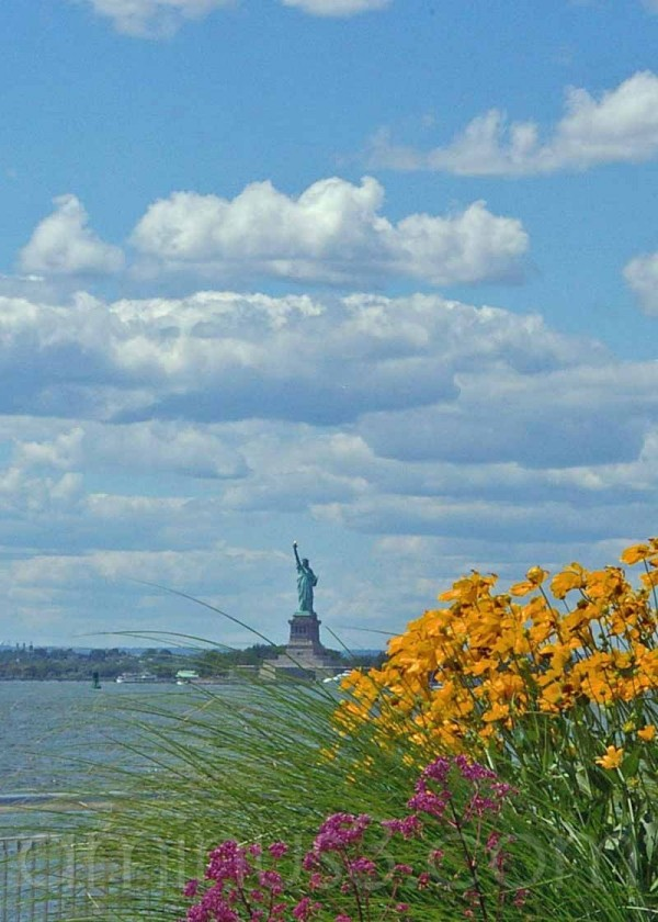 statue of liberty from brooklyn