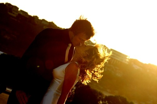 sunset kiss.
