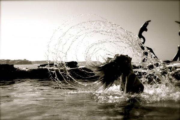water hair.