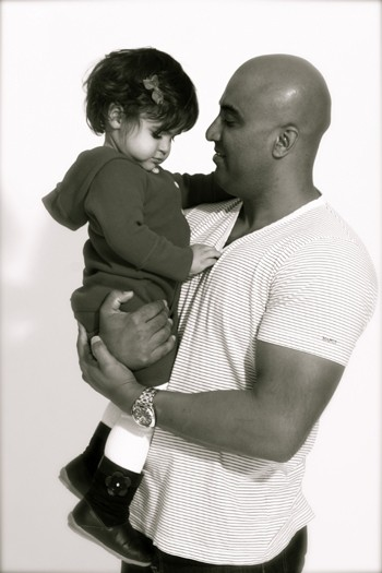 daddy & daughter.