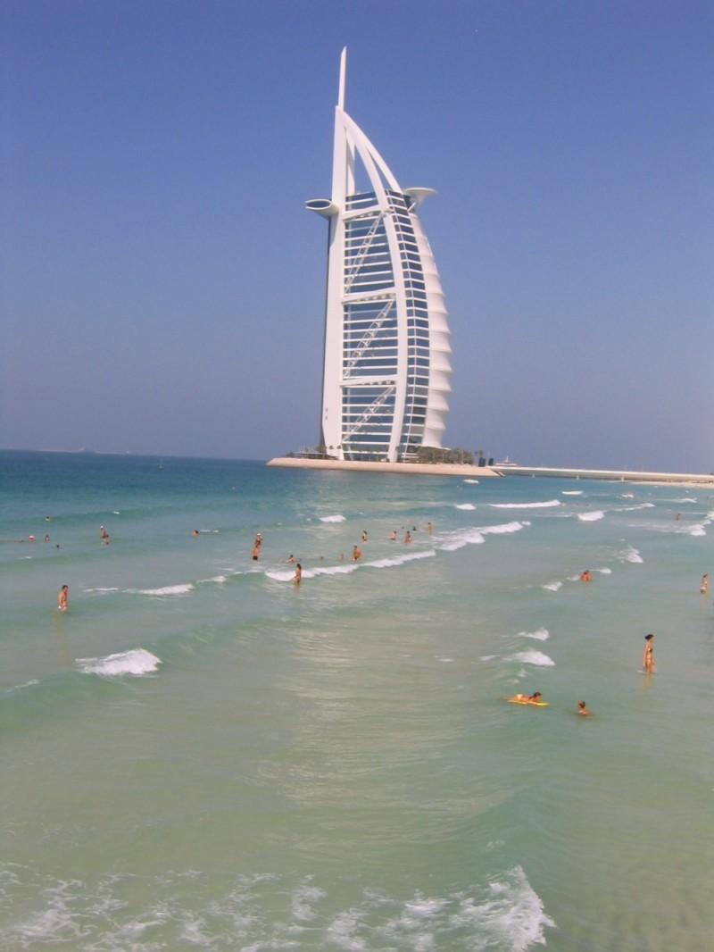 Burj Al Arab and swimmers