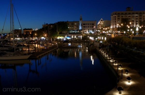 Inner Harbour after sunset