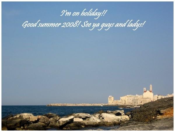 I'm on holiday!!! Seeeeeeeeeee yaaaa!! ^.^