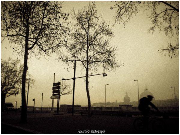 Brouillard en vélo