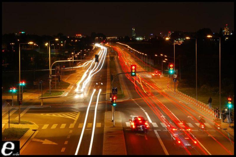 night highway car warsaw nikon D60 lights