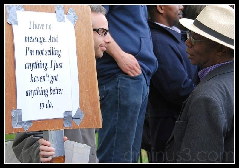 London Hyde Park speakers corner message