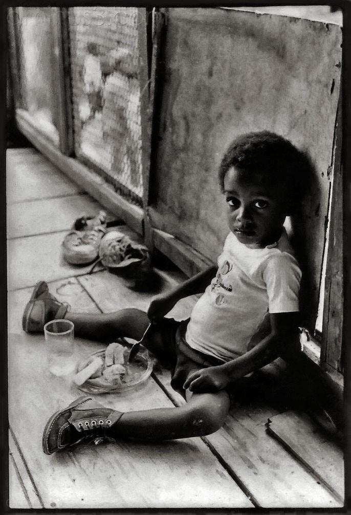 boy dominica black and white