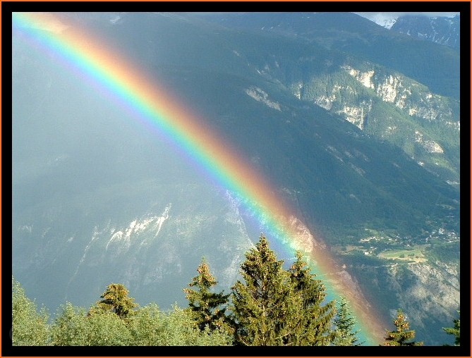 Valais Switzerland Alps rainbow