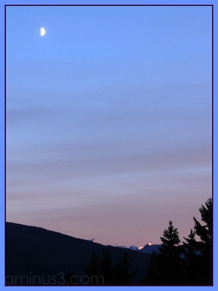 Switzerland Suisse Valais sunset mountains