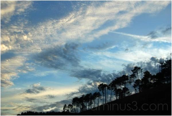 sky clouds sun
