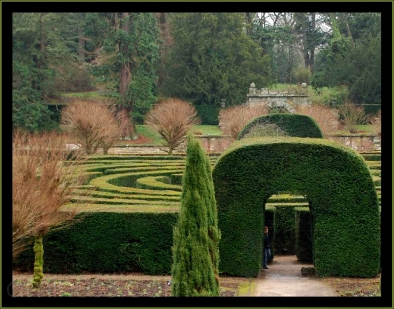 the maze at Chatsworth