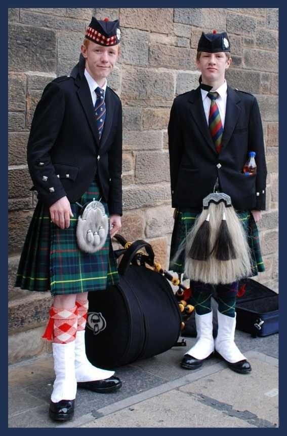 bagpipers in Edinburgh, Scotland