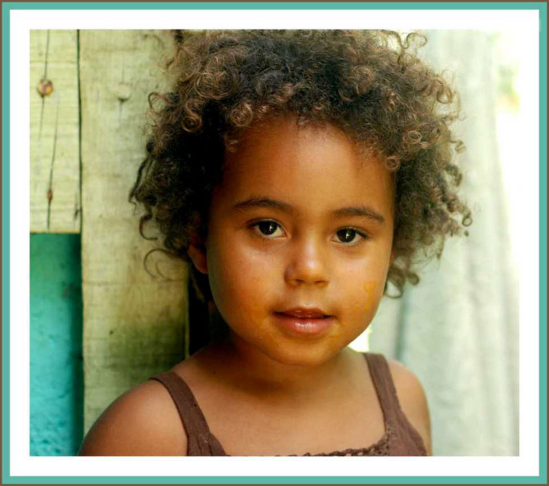 little girl in Dominica