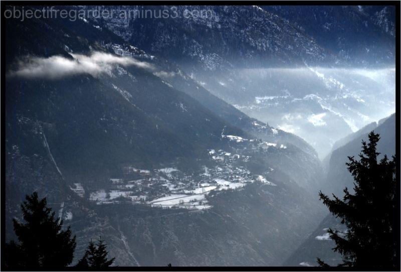 village of Saint-Luc in Switzerland