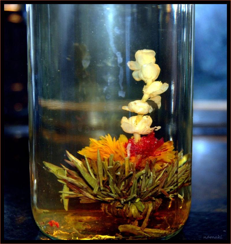 flowered tea