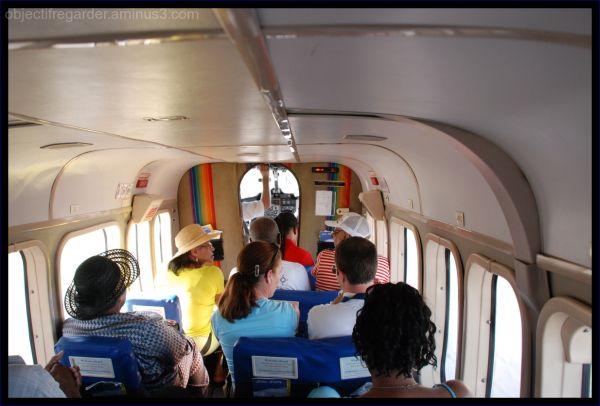 inside an air carib plane