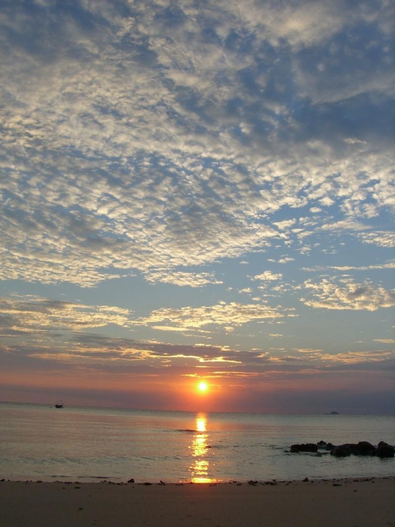 sunset at tioman