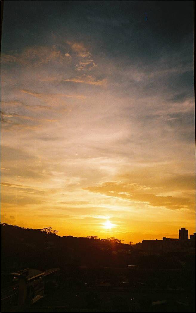 sunset, singapore, clouds, sun, neighbourhood