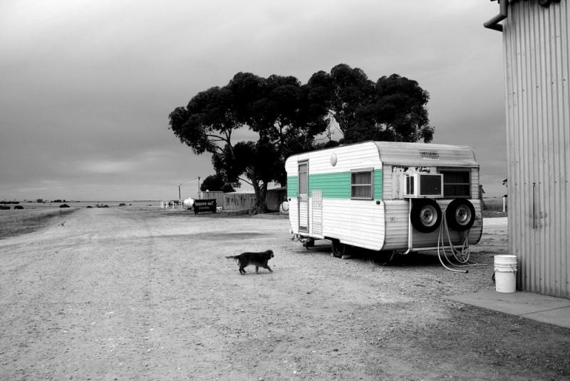 the caravan on our farm