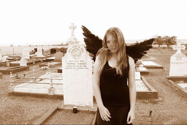 angel in the cemetery