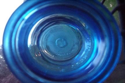 Thru the blue bottle