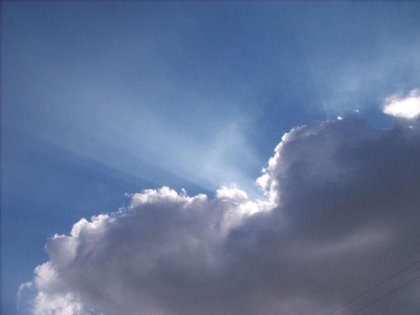 Sunlight thru dark clouds