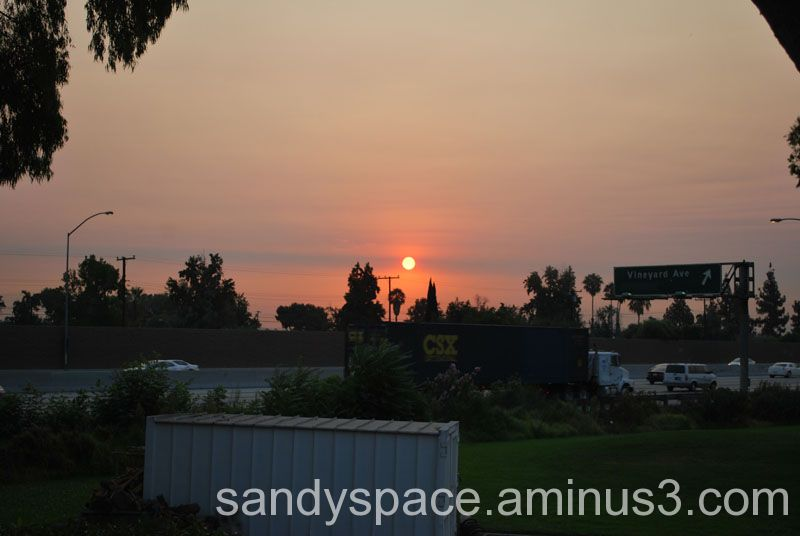 Sundown in Smoky Skies