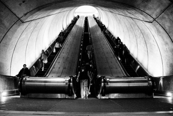 Metro Escalator from the bottom