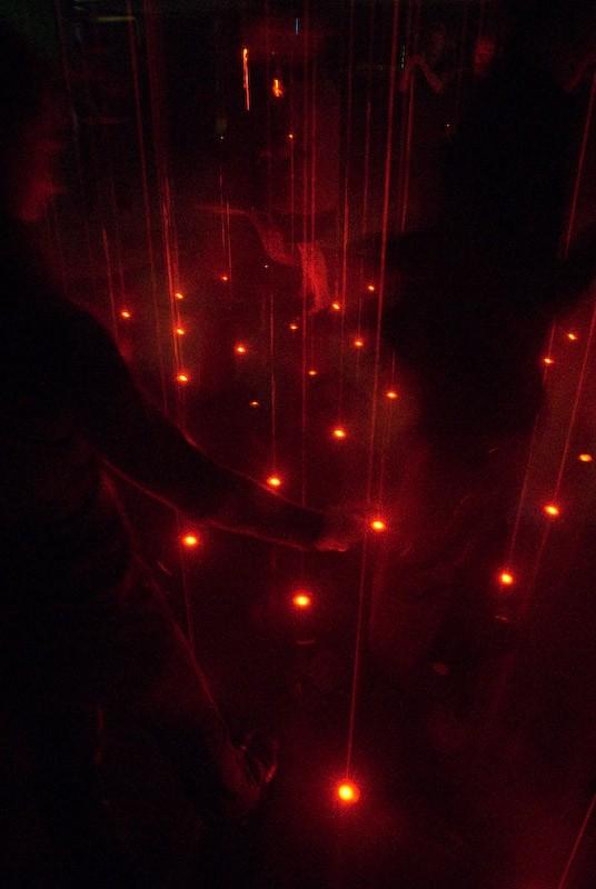 interactive laser dance