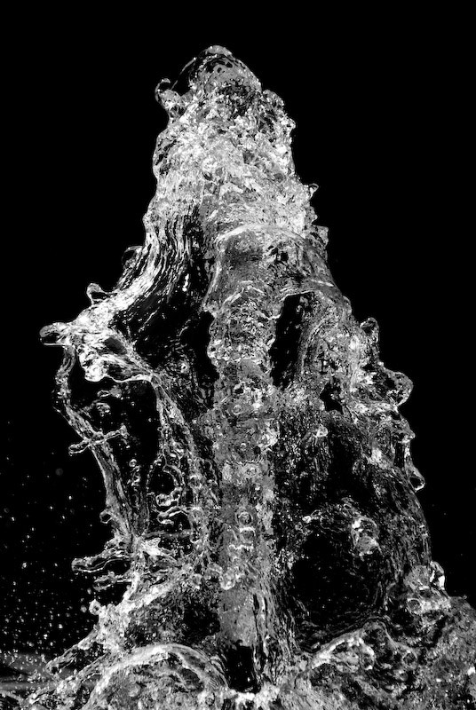 black and white water