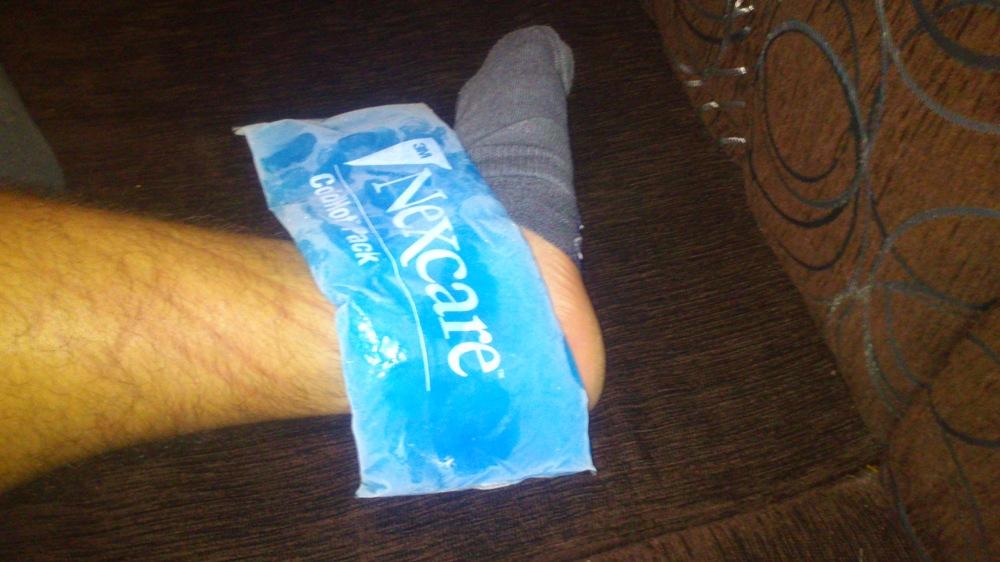 okład z lodu
