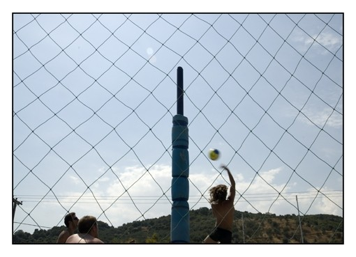 Playing voley