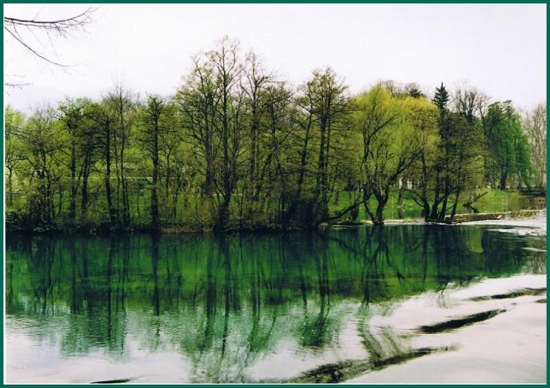 River Una near Bihac in Bosnia