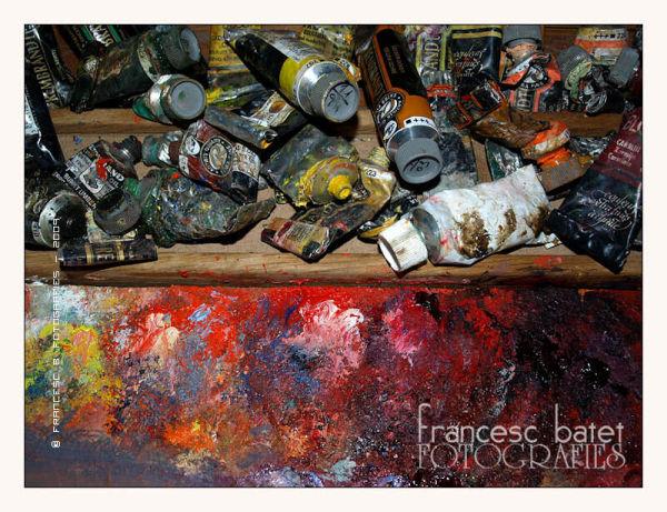 Tubes et palette - 3