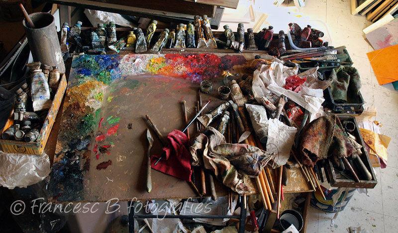 La palette de l'artiste...