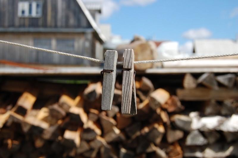 clothespins couple village