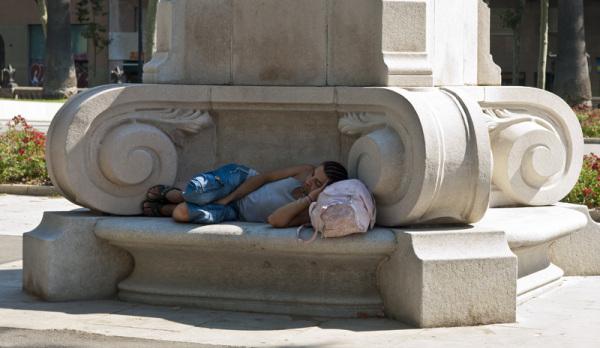 tired in Barcelona