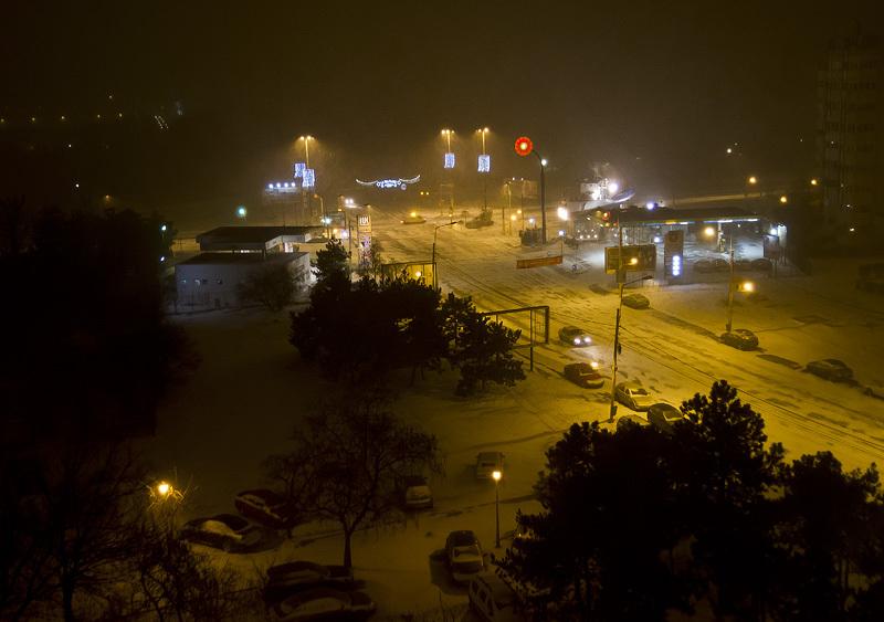 from my window: snow storm