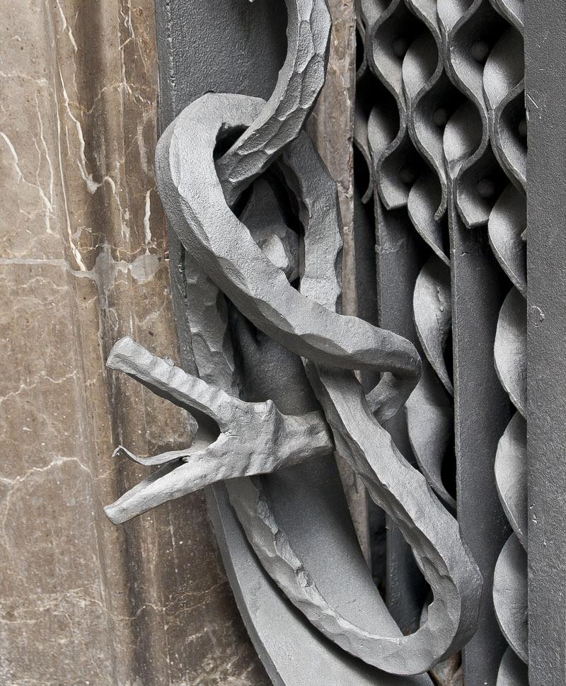Guell Palace. Iron snake
