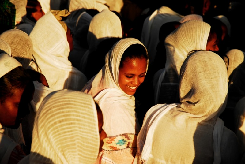 Women procession during Timkat celebration