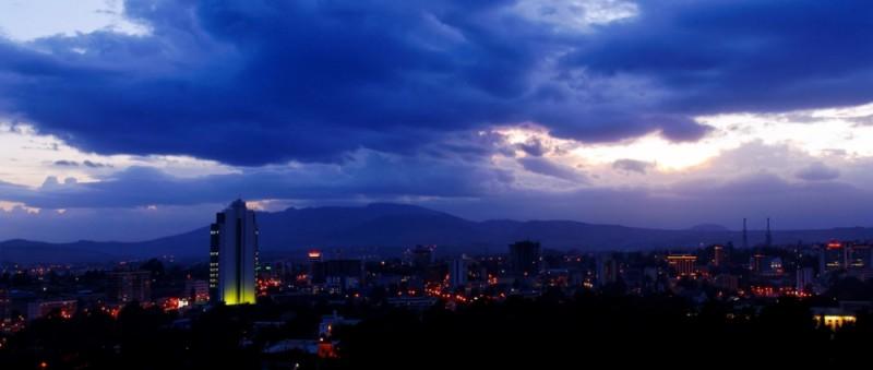 Panoramic view of Addis-Ababa