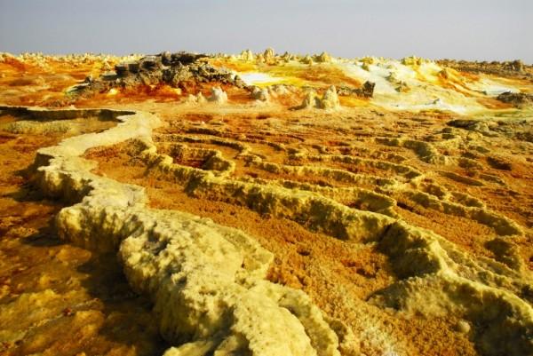 Sulfur formations, Dalol, Danakil desert, Ethiopia