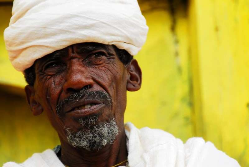 Old priest in Gueralta region of Tigray, Ethiopia