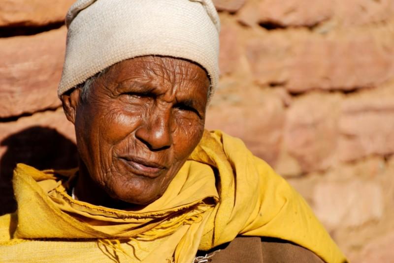 Old nun in Gueralta region of Tigray, Ethiopia