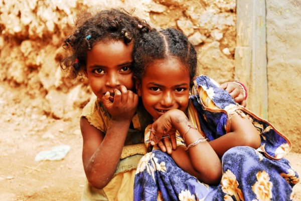 Young Harari girls, Harar, Ethiopia