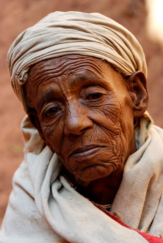 An old Ethiopian woman, Lalibela, Ethiopia