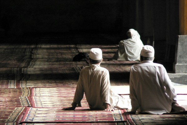 Fidels in Jama Masjid mosque, Srinagar, India