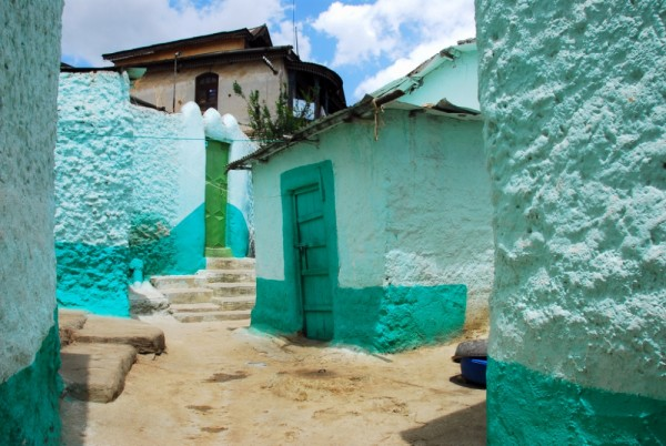 Traditional houses in Harar, Ethiopia